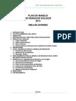 Plan de Manejo de Residuos Solidos Del Grifo Belisario 2013-Chulucanas
