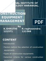 Equipment mnagement