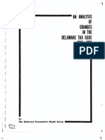 Analysis of Changes in the Delaware Tax Code 1960 1974
