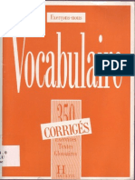 Vocabulaire - 350 ExercicesAVANCE Corriges