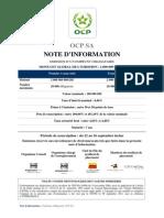 Emission Obligataire OCP