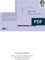 Laurent Guido, l'Âge du rythme – Cinéma, musicalité et culture du corps dans les théories françaises des années 1910-1930 Lausanne, Éditions Payot Lausanne, coll. « Cinéma », 2007, 544 p
