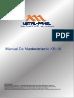Manual de Mantenimiento Kr-18 Metal Panel