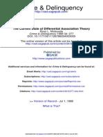A Atual Situação Da Teoria Da Associação Diferencial