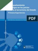 Acompañamientos a testigos en juicios contra terrorismo de estado. Primeras Experiencias (1)