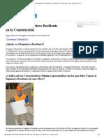 Funciones Del Ingeniero Residente en La Construcción _ Tutoriales Al Día - Ingeniería Civil