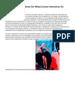 Estudiar Moda Y Diseno En Milan,Cursos Intensivos En Diseno De Modas