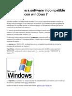 Modo Xp, para correr programas de xp en windows 7