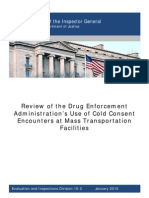 DEA Cold Consent Mass Transit Report