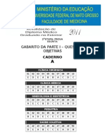 Gabarito Caderno A