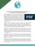 Declaración del COPAREM - PARLACEN 2015