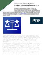 Legal quinientos Recomienda A Antonia Magdaleno Abogados Entre Los Mejores Despachos En Concursal En Su