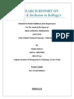 Dissertation on Diversity & Inclusion in Kellogg's