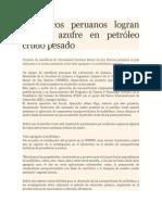 Reduccion de Azufre en Petróleo Crudo Pesado