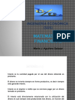 4.1. Matemáticas Financieras-Interés