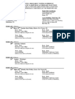 2010 Republican & Democratic primary early voting schedule & locations
