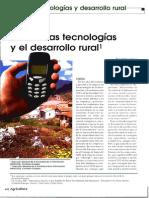 La UE, Las Nuevas Tecnologías y El Desarrollo Rural