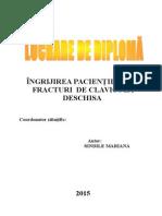 Ingrijrea Cu Fractura Deschisa 2015