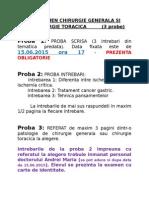 Examen Chirurgie Generala Si Chirurgie Toracica