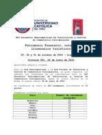 Circular 001 Resultados de La Convocatoria e Información Para Ponentes