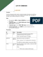 List of Commands EIR