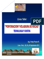 i. Tecnicas y Costos de Perforacion y Voladura de Rocas