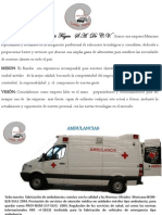 folleto de instalación de ambulancia
