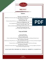 spring 2015 lunch menu