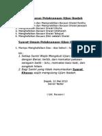 Syarat Khusus Pelaksanaan Ujian Ibadah III