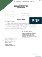 Demar v. Chicago White Sox, Ltd., The et al - Document No. 38