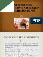 Antecedentes Historicos y Nacionales Del Habeas Corpus