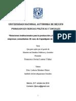 Relaciones institucionales para la producción y la gobernanza en empresas comunitarias