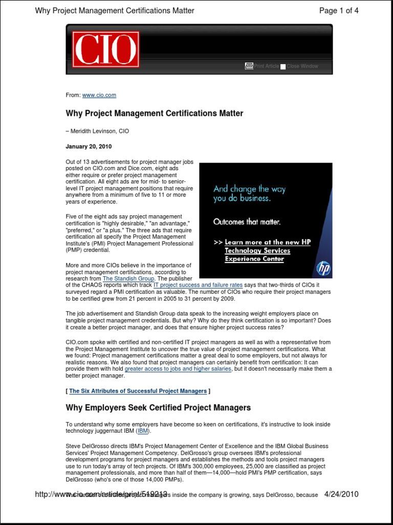 Project Management Certifications Mattercio Professional