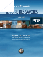 synth2003-2007Histoiredessavoirs