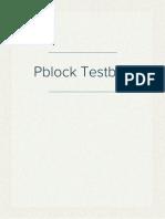Pblock Testbox