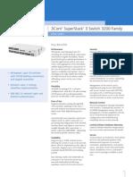 3com SW 3250 Datasheet