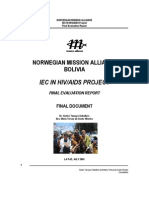 IEC in Hiv Aids Project. Final Evaluation Report.information Education and Communication