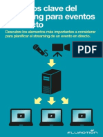 Aspectos claves del streaming para eventos en directo