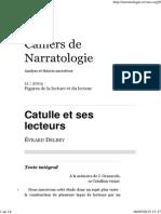 Delbey, Évrard (2004) - Catulle Et Ses Lecteurs