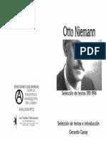 Tapa Otto Niemann, Selección de textos 1911-1916