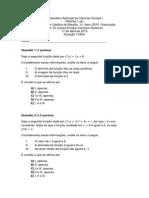 Prova 2 2015 Matematica I