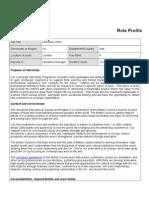 Summer Internship Scheme 2014 - Literature Assistant - Role Profile