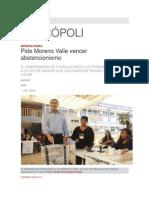 07-06-2015 Síntesis - Pide Moreno Valle Vencer Abstencionismo