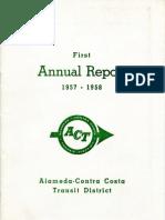 AC Transit Annual Report 1957-1958