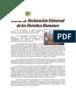 10 de DICIEMBRE - Día de La Declaración Universal de Los Derechos Humanos.