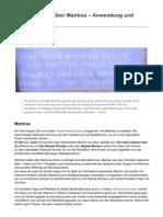 OM & Co Alles Wissenswerte über Mantras - Anwendung und Beispiele von Manu Sarona