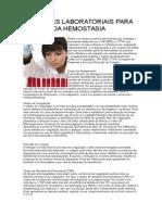 Exames Laboratoriais Para Análise Da Hemostasia