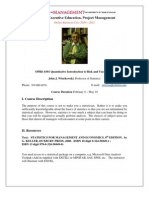 UT Dallas Syllabus for opre6301.med.10s taught by John Wiorkowski (wiorkow)