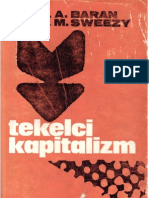 Tekelci Kapitalizm Paul a. Baran - Paul M. Sweezy