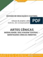 Artes Cênicas - Montagens Inéditas